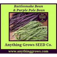 Pole Bean - Rattlesnake & Purple Mix